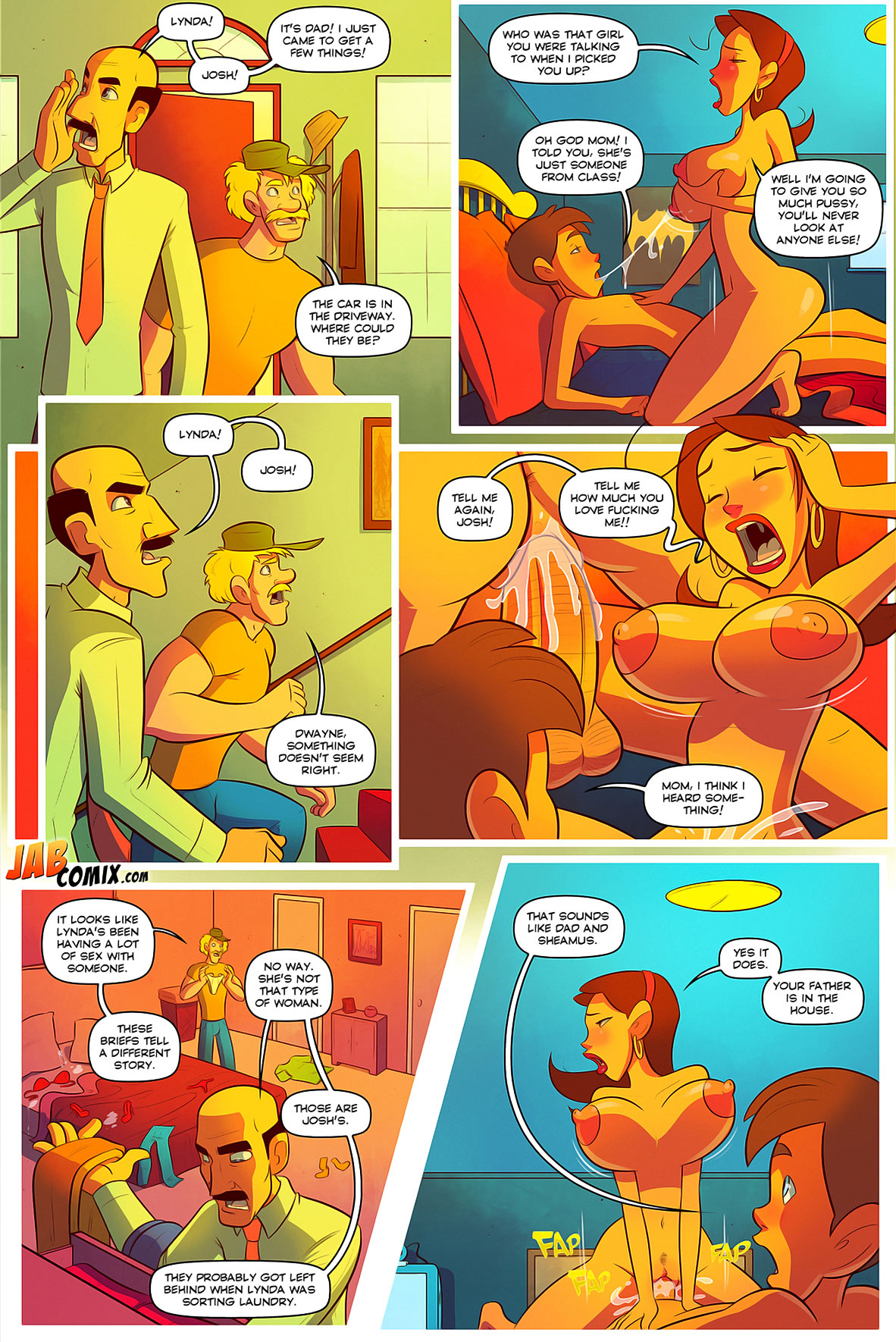 Jab comic Keeping it up with the Joneses 3 - page 1