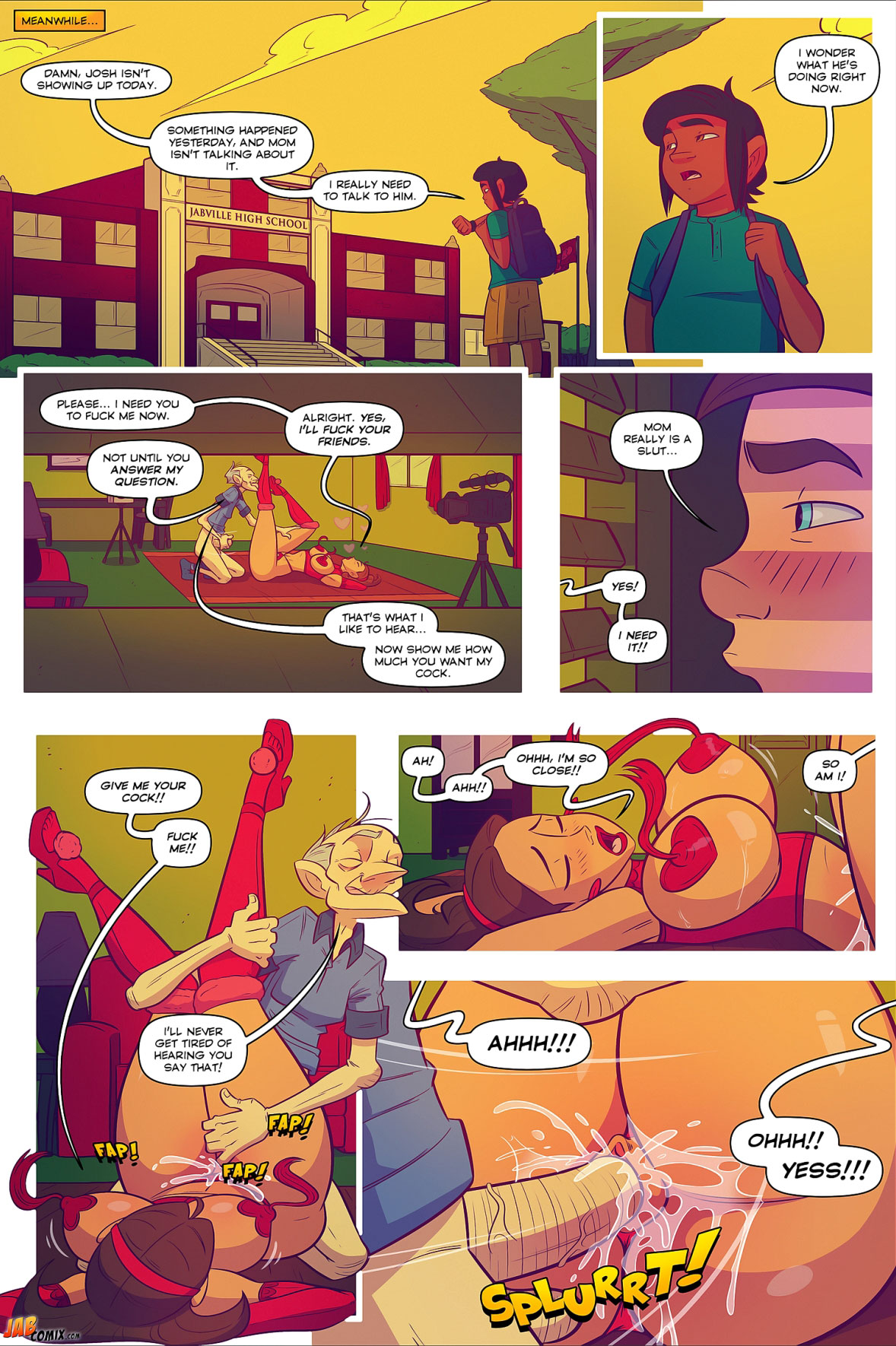 Jab comic Keeping it up with the Joneses 5 - page 20