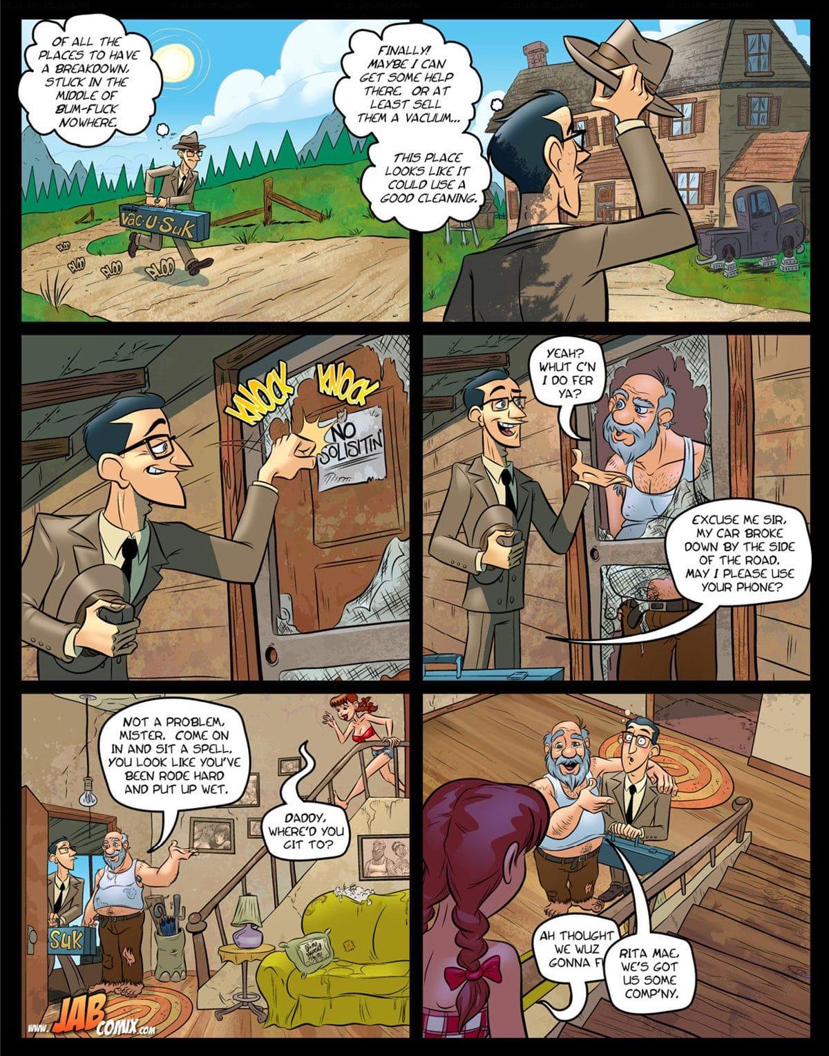 "Jab comic ""Farm Lessons 16"" - page 1"