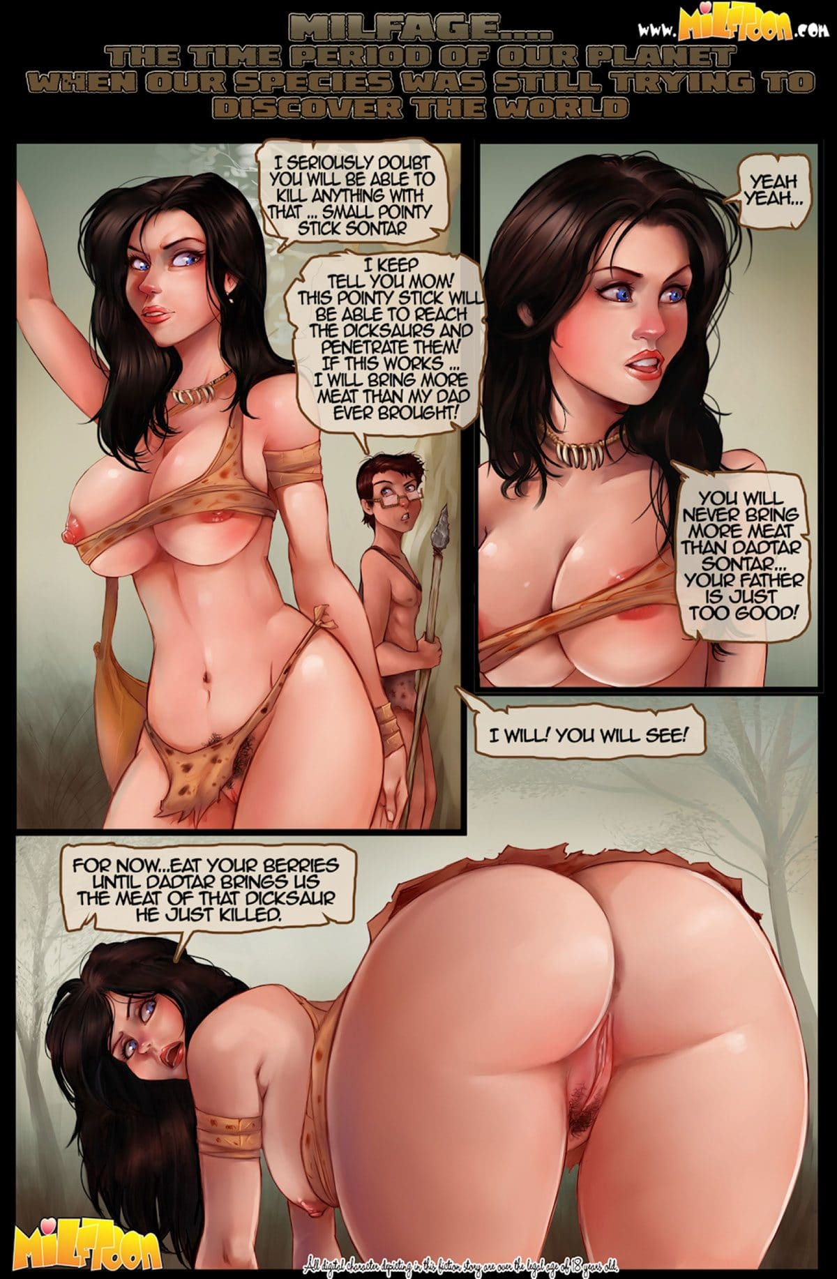 """Milftoon comic """"MilfAge"""" - page 1"""