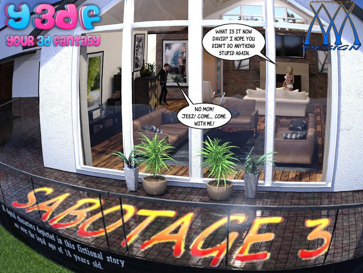 """Y3DF comic """"Sabotage 3"""" - page 1"""