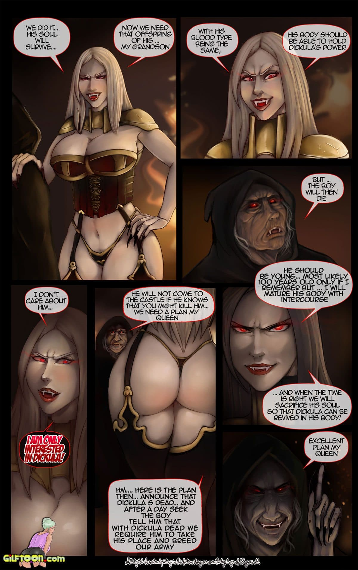 """Gilftoon comic """"Vampire's Grandson"""" - page 3"""