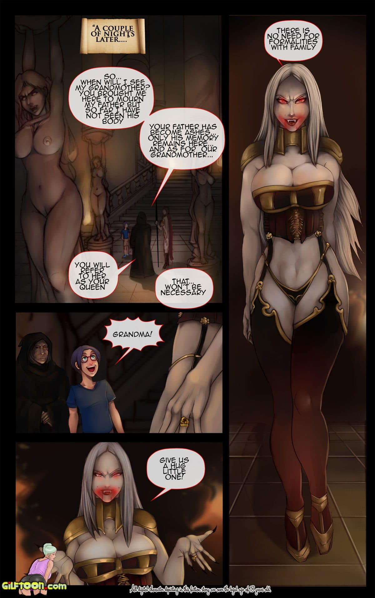 """Gilftoon comic """"Vampire's Grandson"""" - page 4"""