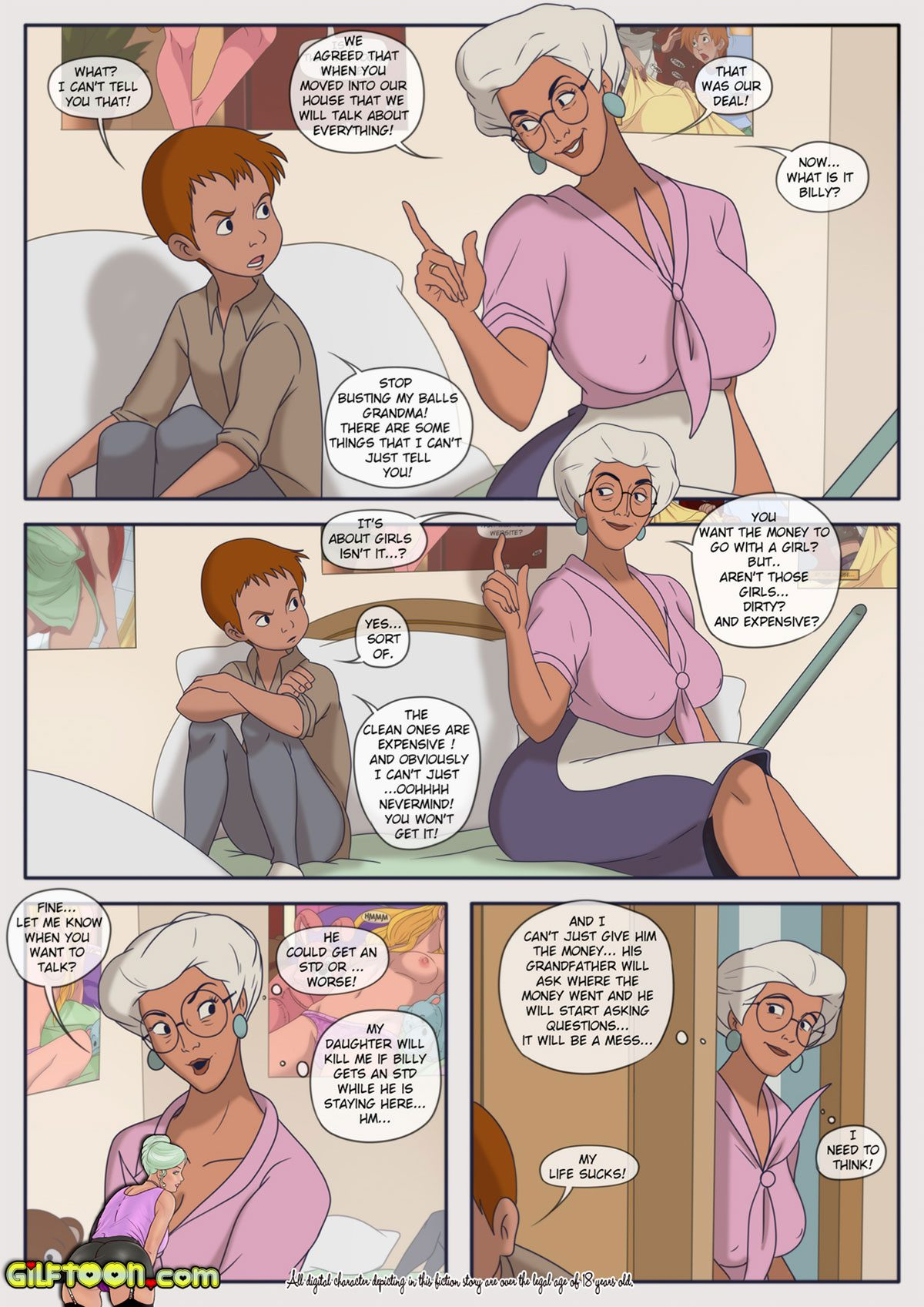 "Gilftoon comic ""Lunch Time"" - page 4"