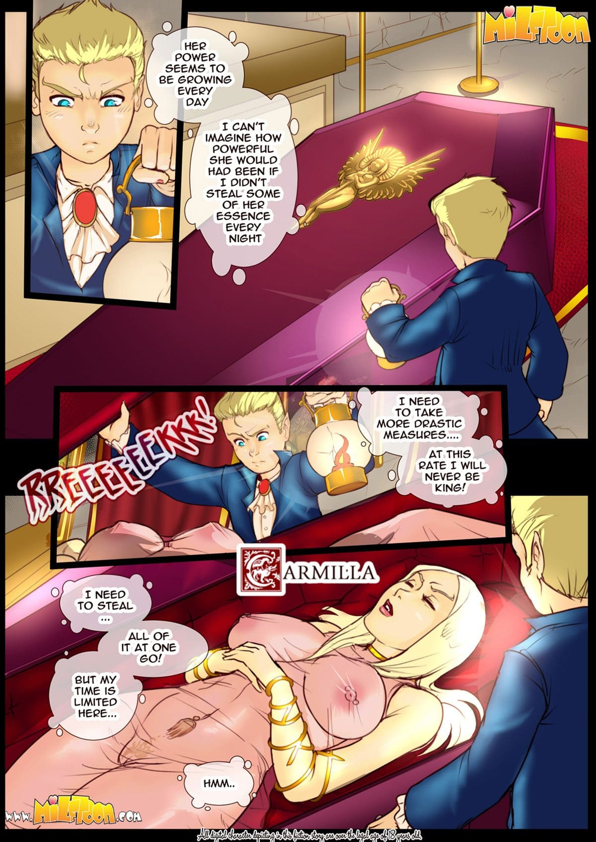 "Milftoon comic ""Carmilla"" - page 2"