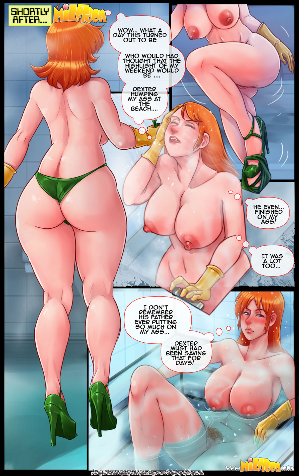 """Milftoon comic """"Dexter's Flab"""" - page 13"""