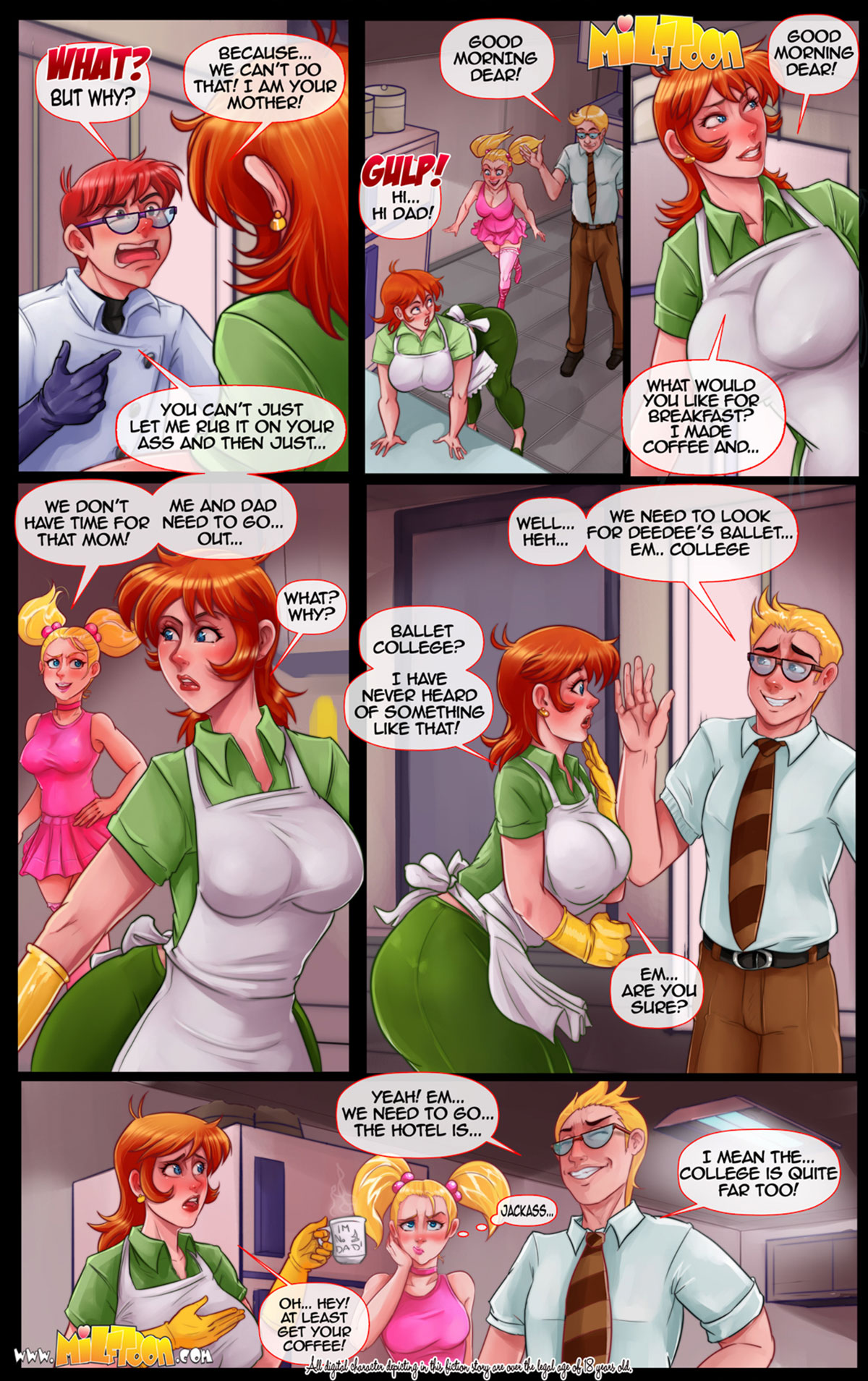 """Milftoon comic """"Dexter's Flab"""" - page 21"""