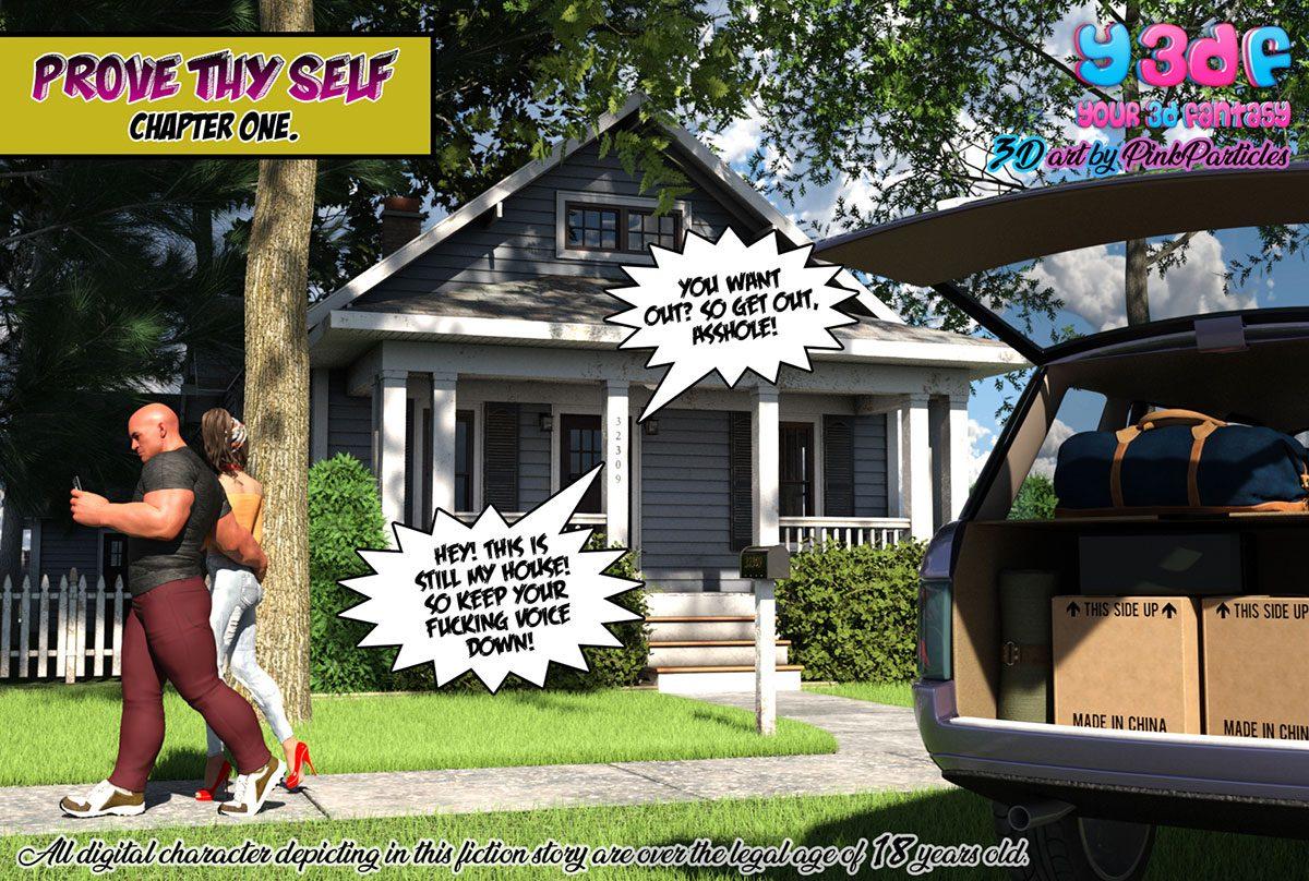 "Y3DF comic ""Prove Thy Self"" - page 1"