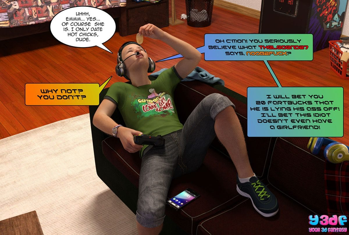 "Y3DF comic ""Prove Thy Self"" - page 6"
