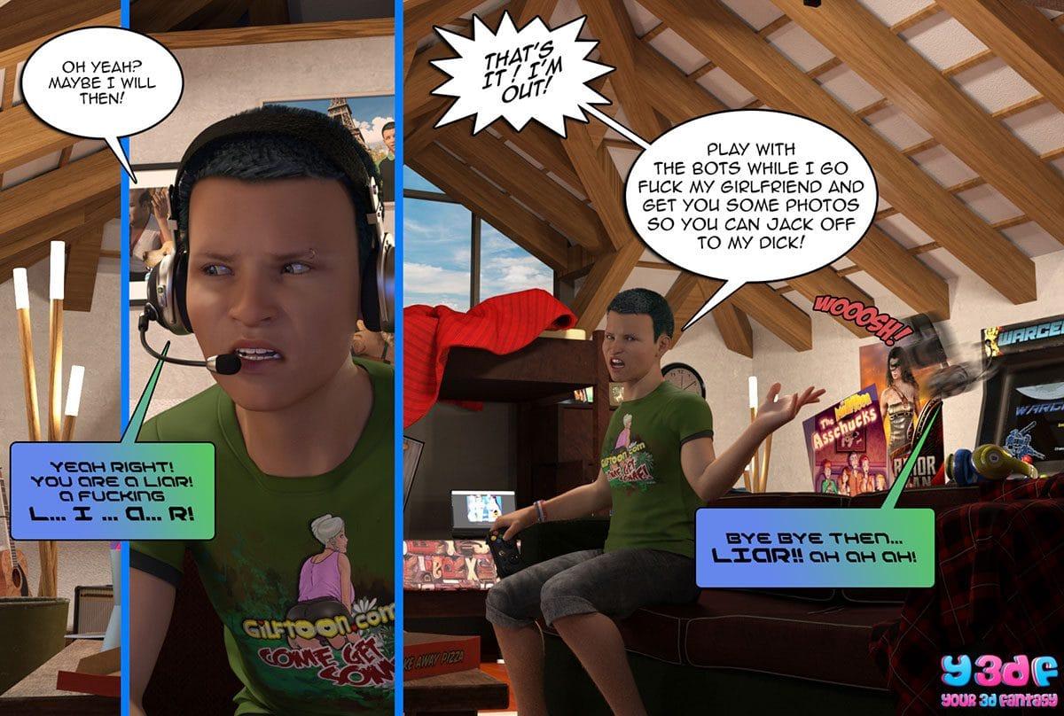 "Y3DF comic ""Prove Thy Self"" - page 8"