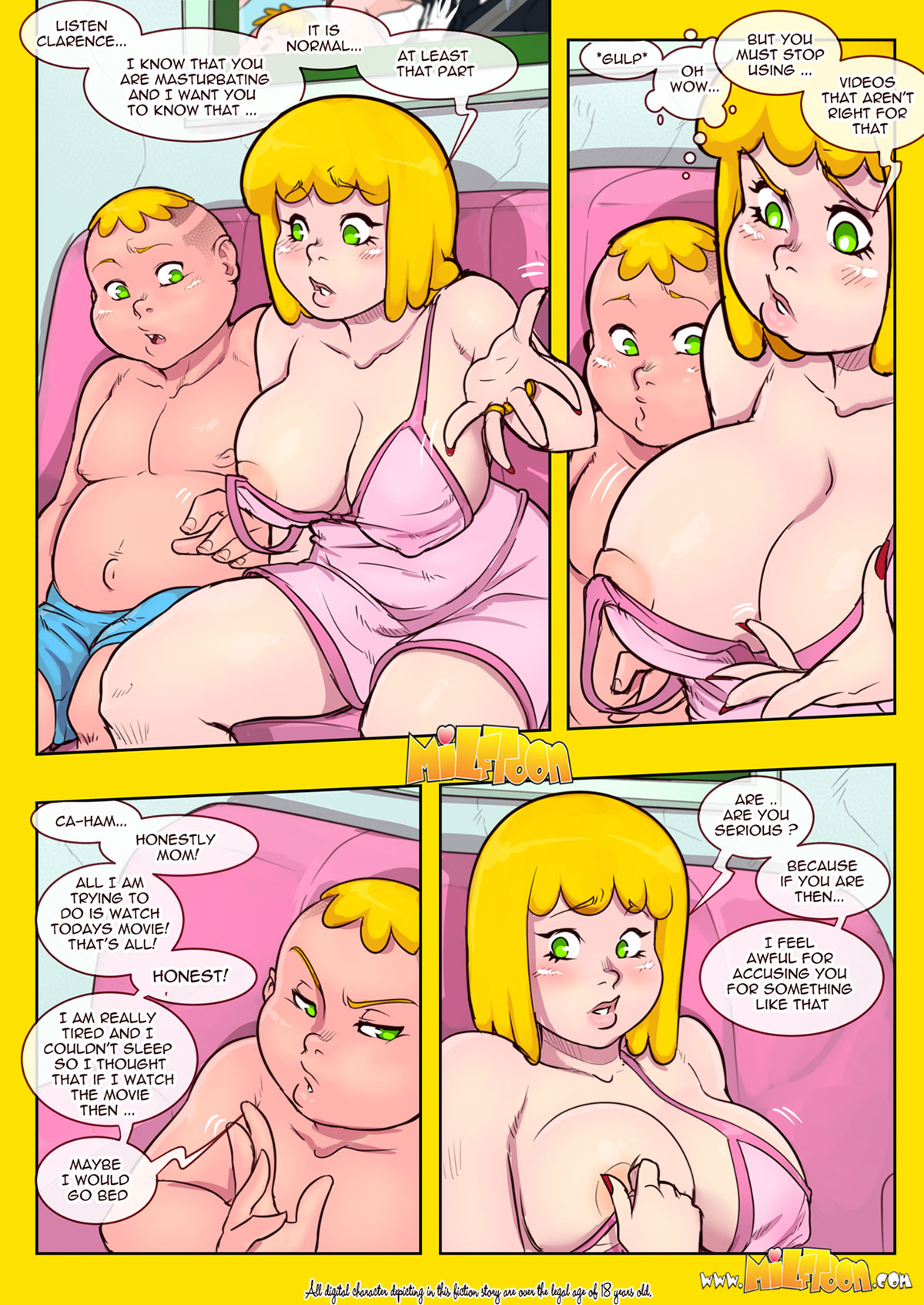 "Milftoon comic ""New Adventures of Clarence"" - page 11"