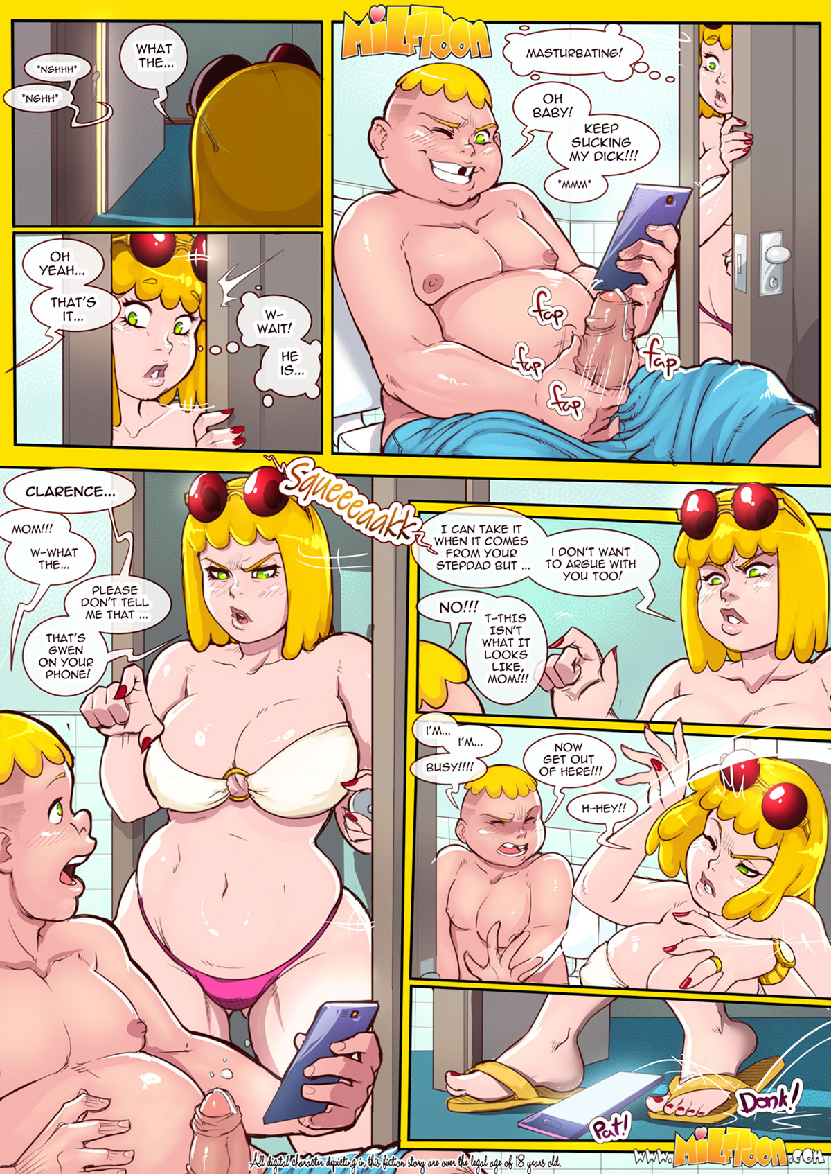 "Milftoon comic ""New Adventures of Clarence"" - page 4"
