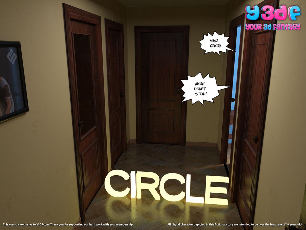 """Y3DF comic """"Circle"""" - page 1"""