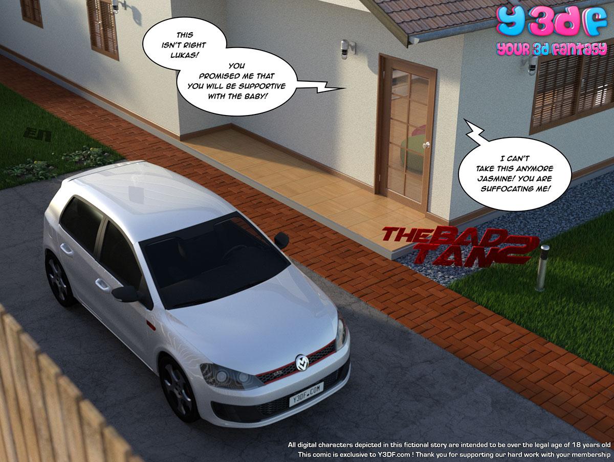 """Y3DF comic """"The Bad Tan 2"""" - page 1"""