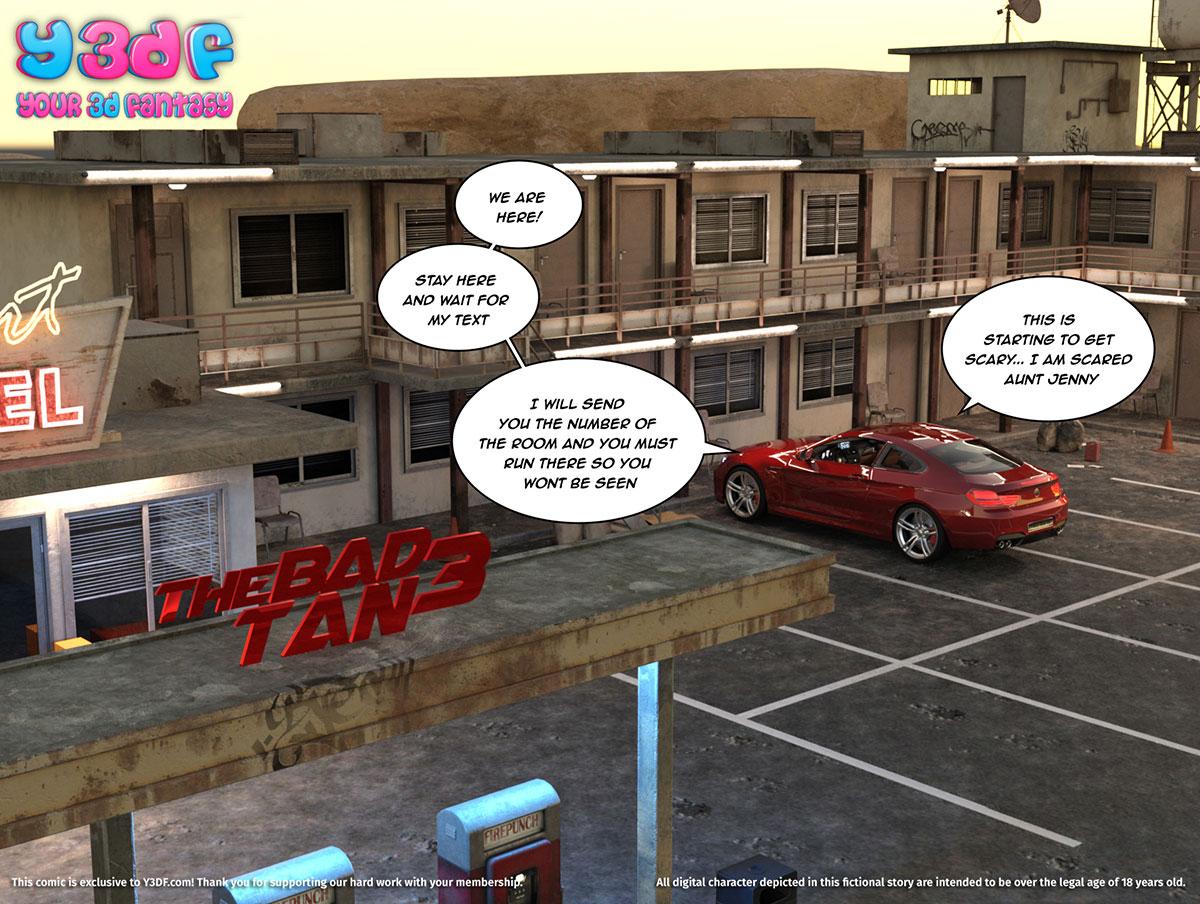 """Y3DF comic """"The Bad Tan 3"""" - page 1"""