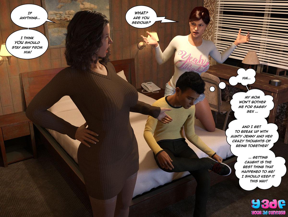 """Y3DF comic """"The Bad Tan 3"""" - page 102"""