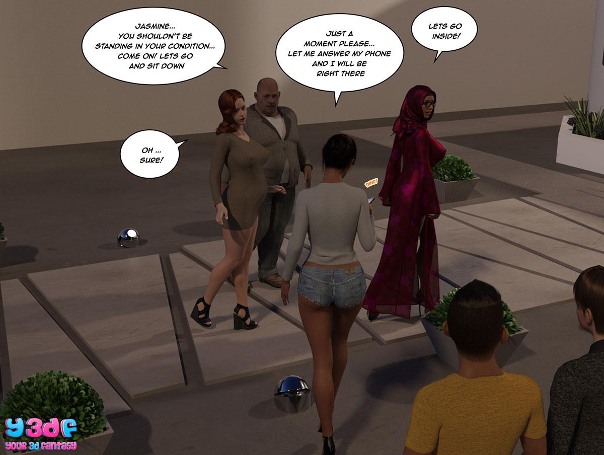 """Y3DF comic """"The Bad Tan 3"""" - page 72"""