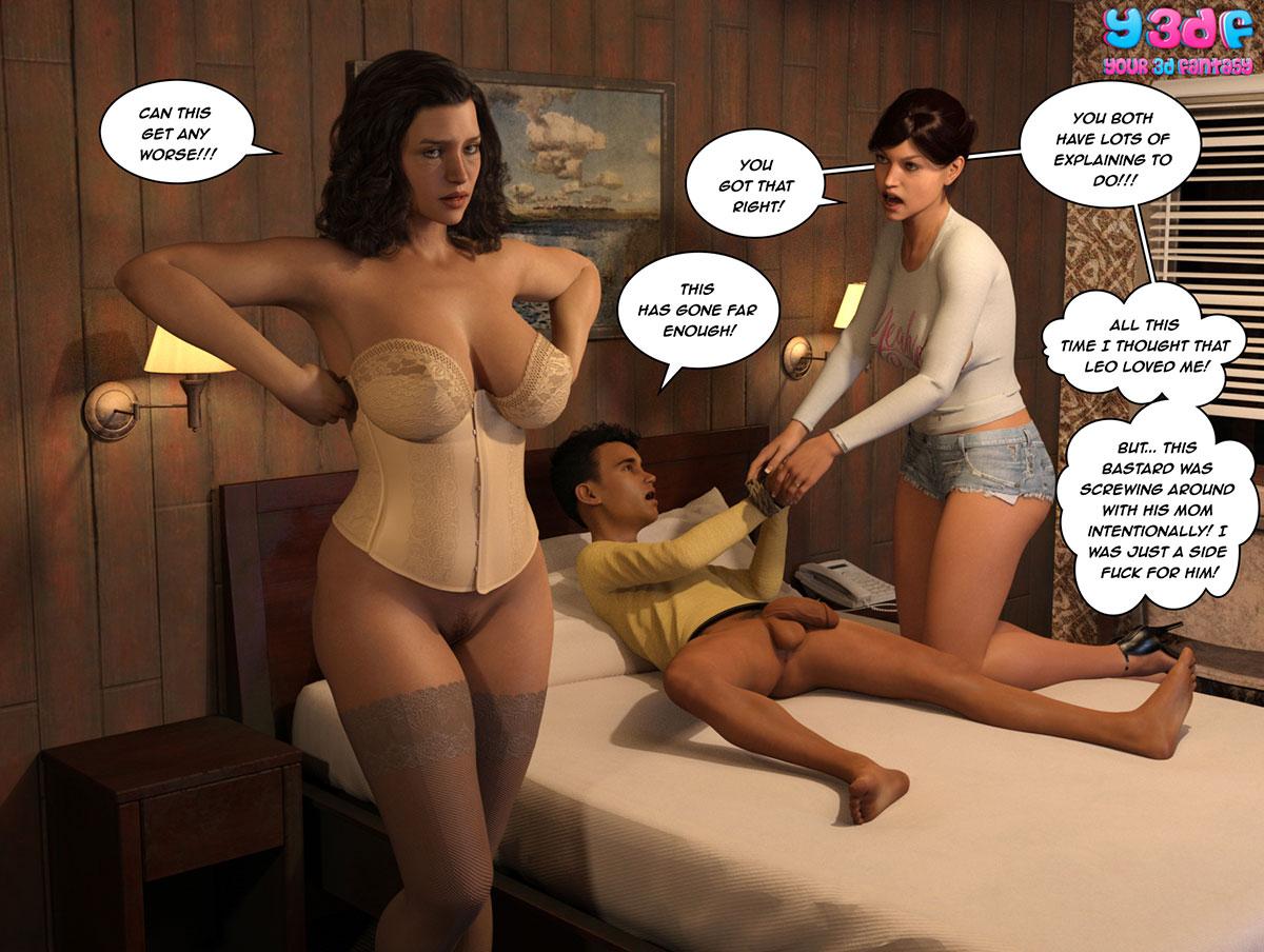 """Y3DF comic """"The Bad Tan 3"""" - page 92"""