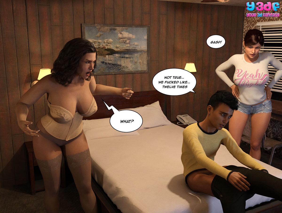 """Y3DF comic """"The Bad Tan 3"""" - page 97"""