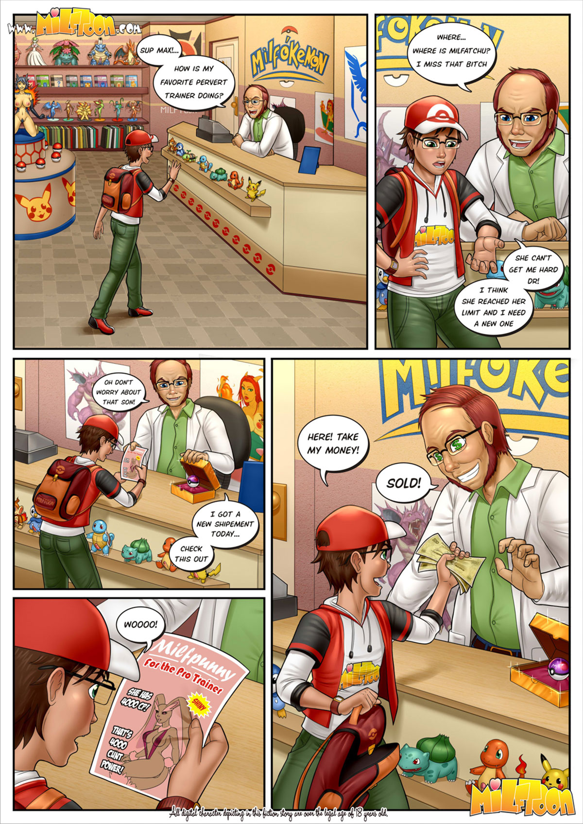 "Milftoon comic ""Milfpokemon Pre-Go"" - page 5"