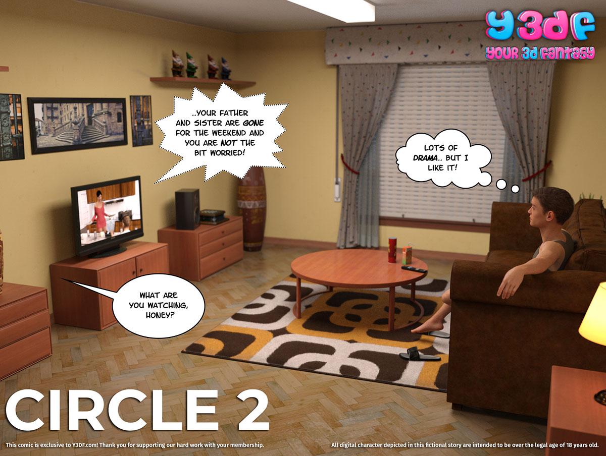 """Y3DF comic """"Circle 2"""" - page 1"""