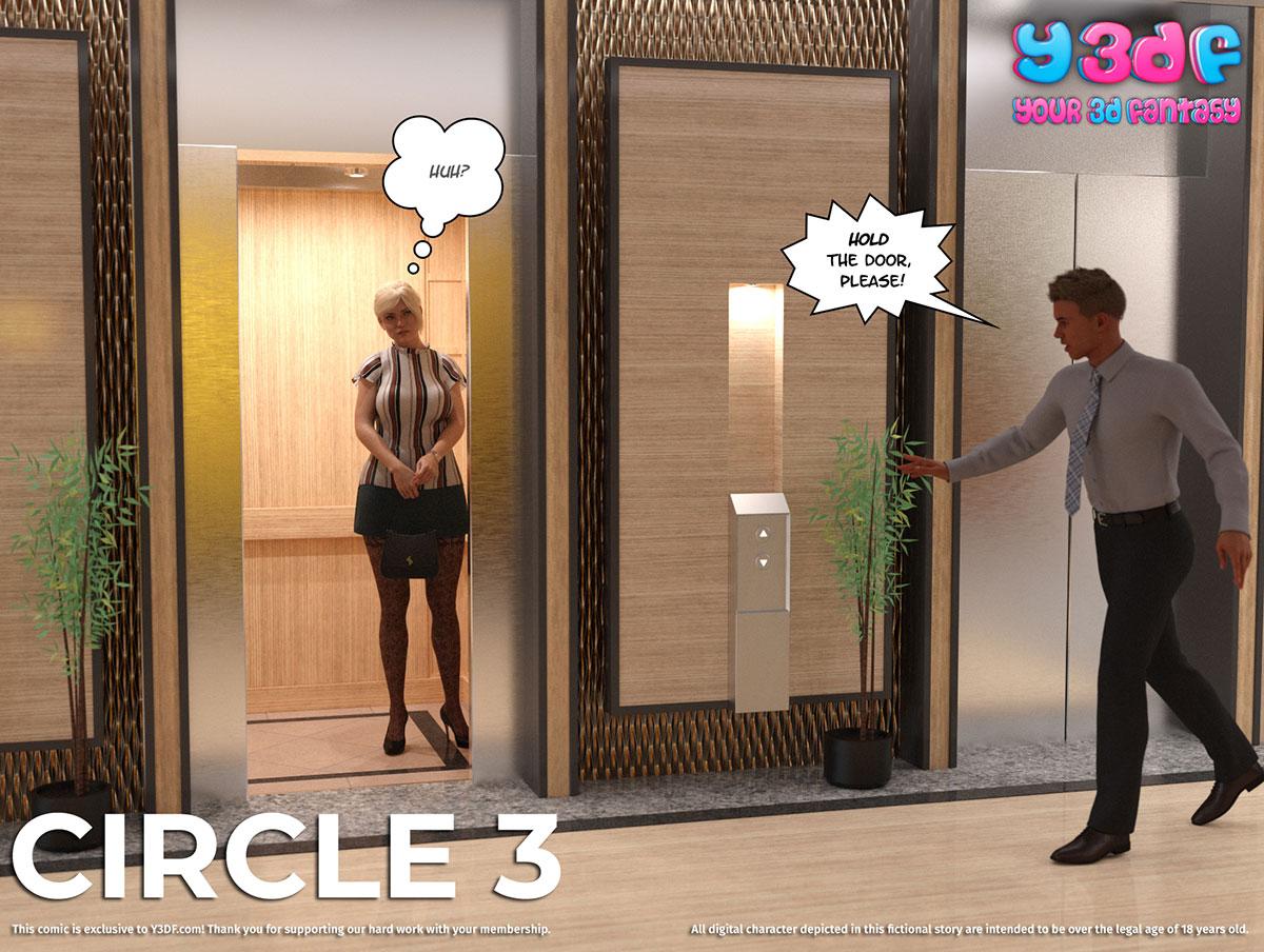 """Y3DF comic """"Circle 3"""" - page 1"""
