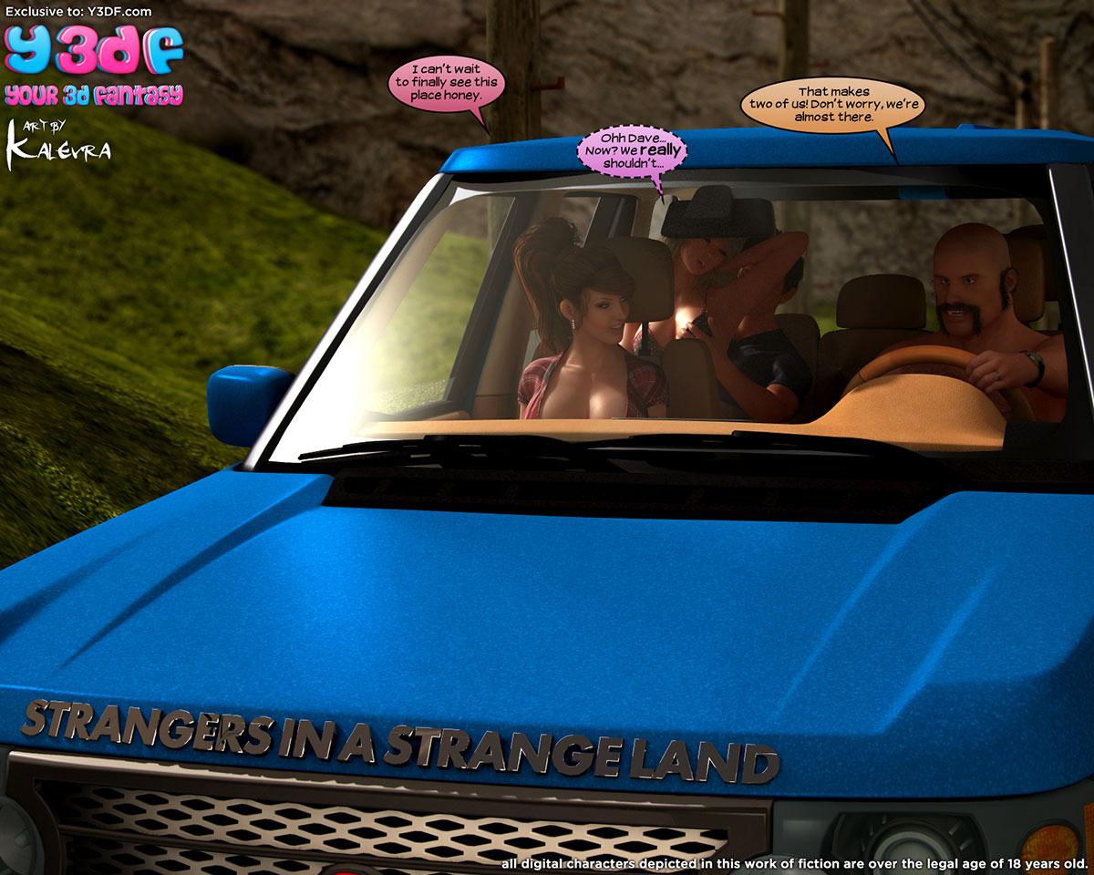 "Y3DF comic ""Strangers in a Strange Land"" - page 1"