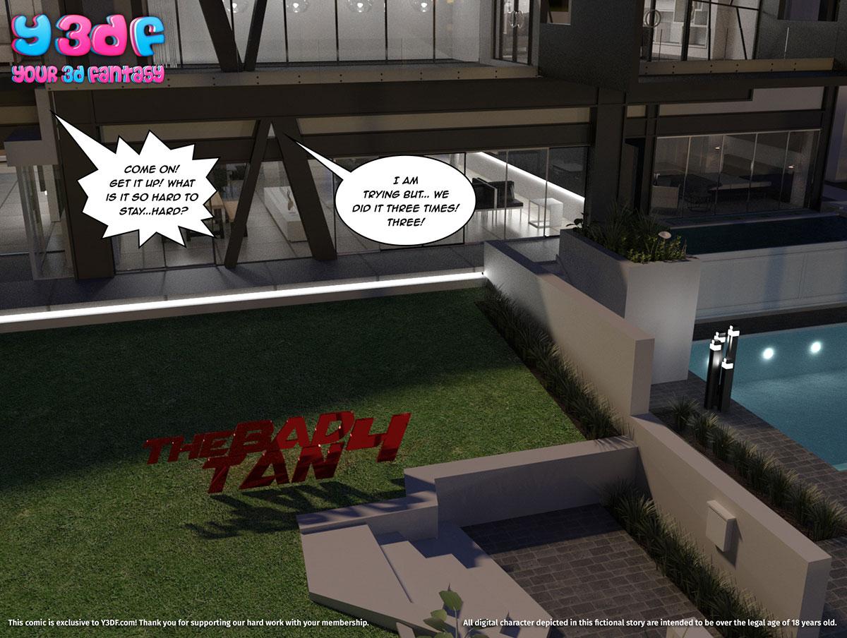"""Y3DF comic """"Tha Bad Tan 4"""" - page 1"""