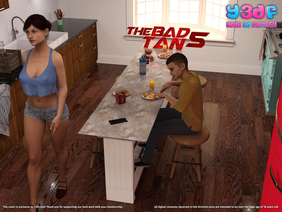 """Y3DF comic """"The Bad Tan 5"""" - page 1"""
