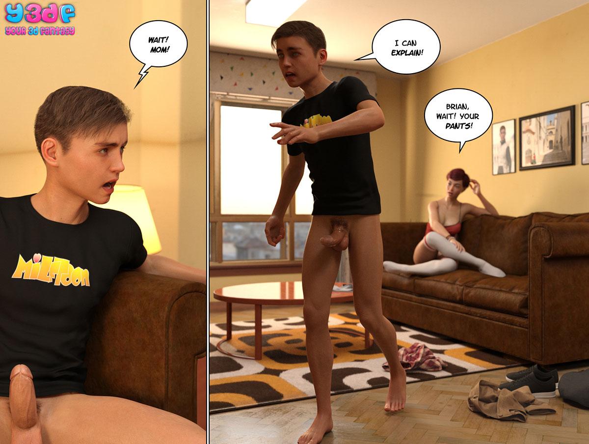 """Y3DF comic """"Circle 6"""" - page 64"""
