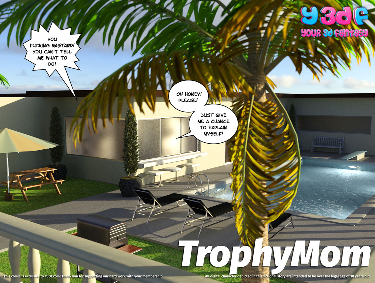 "Y3DF comic ""TrophyMom"" - page 1"