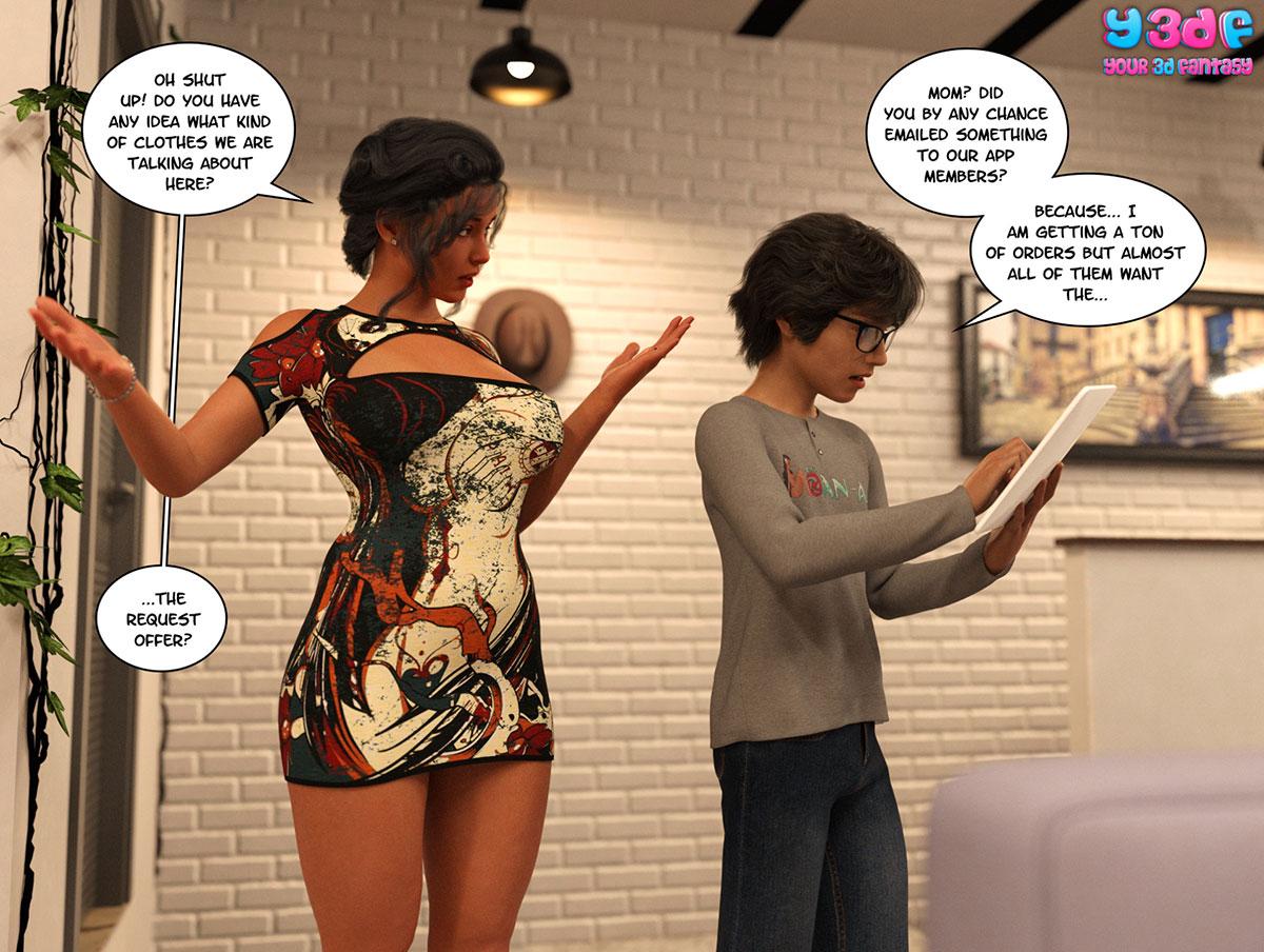 "Y3DF comic ""TrophyMom 2"" - page 2"
