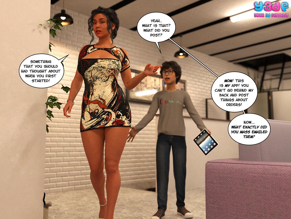 "Y3DF comic ""TrophyMom 2"" - page 3"
