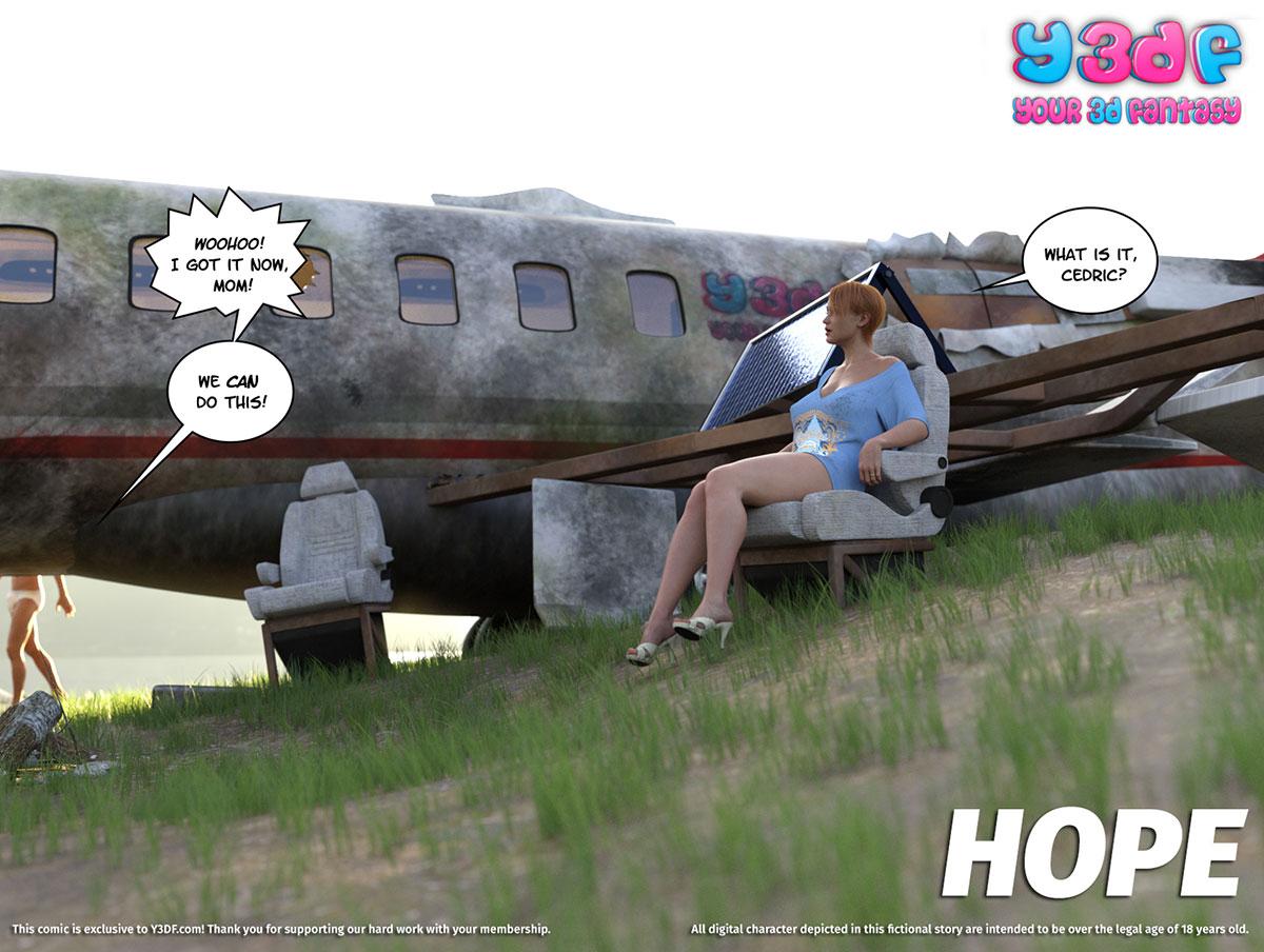 """Y3DF comic """"Hope"""" - page 1"""