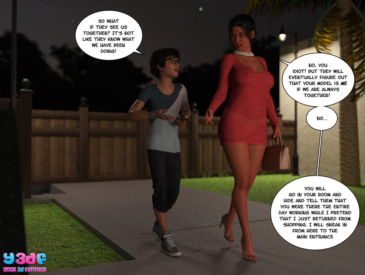 "Y3DF comic ""TrophyMom 3"" - page 57"