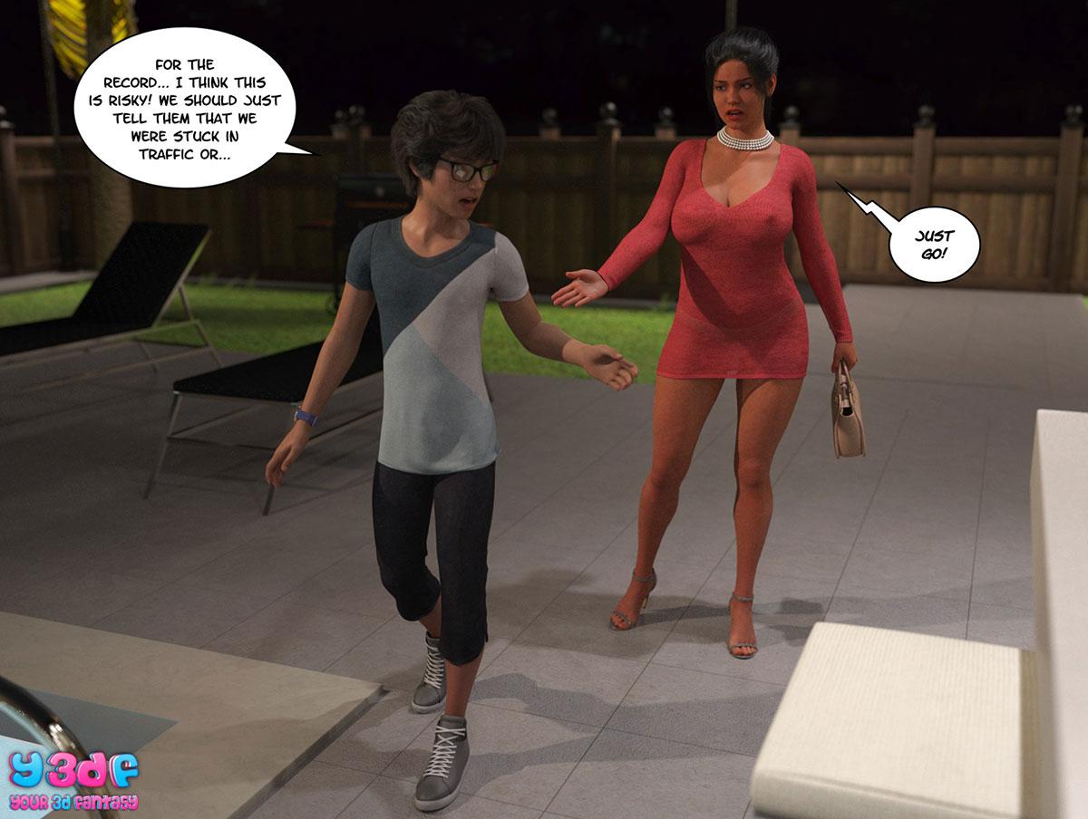 "Y3DF comic ""TrophyMom 3"" - page 59"