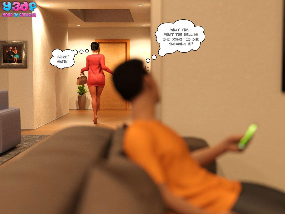 "Y3DF comic ""TrophyMom 3"" - page 65"