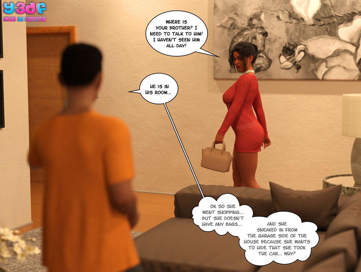 "Y3DF comic ""TrophyMom 3"" - page 68"