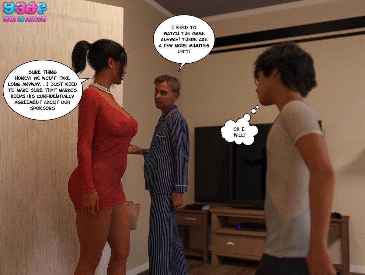 "Y3DF comic ""TrophyMom 3"" - page 71"