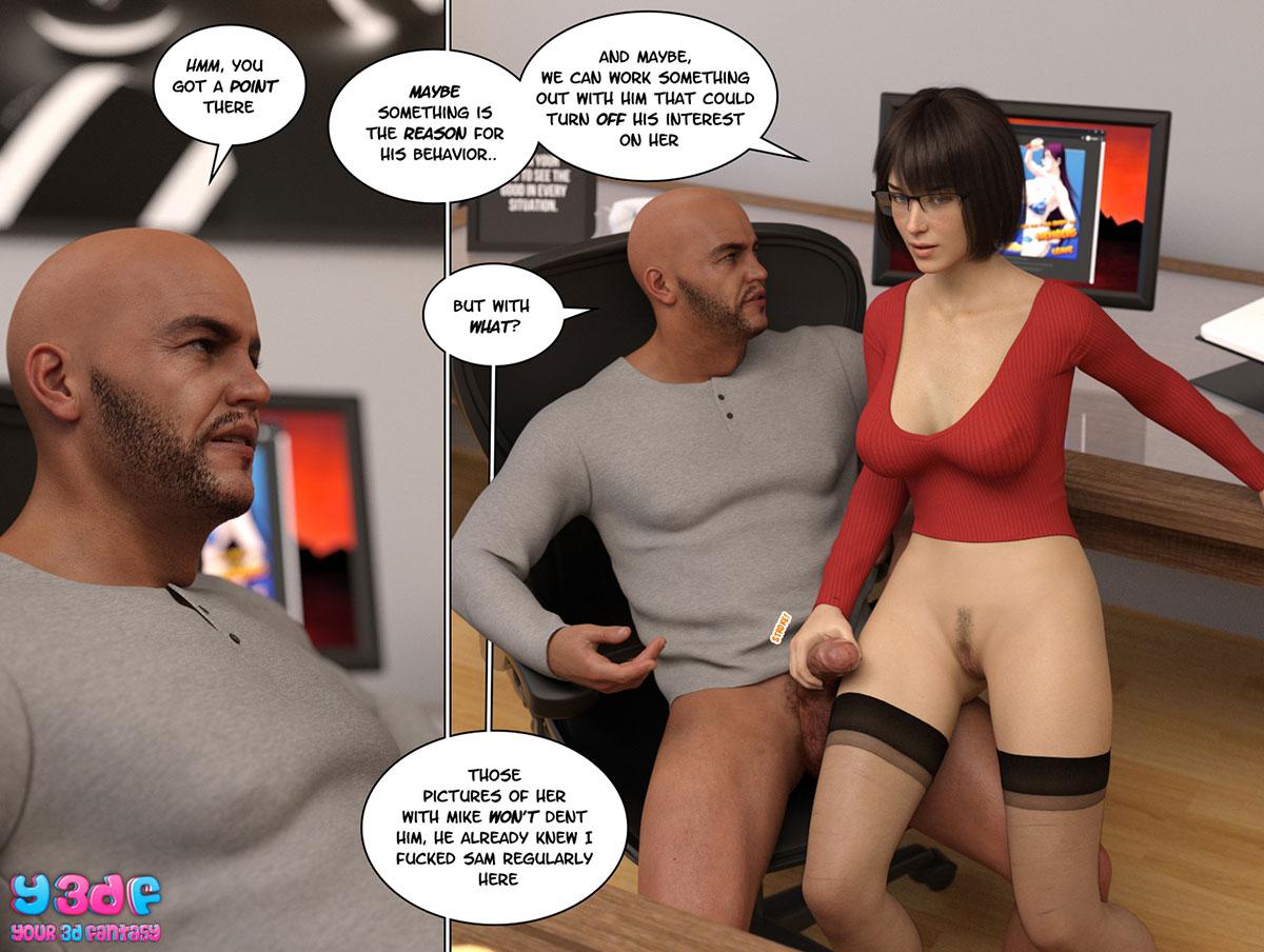 """Y3DF comic """"Circle 8"""" - page 53"""