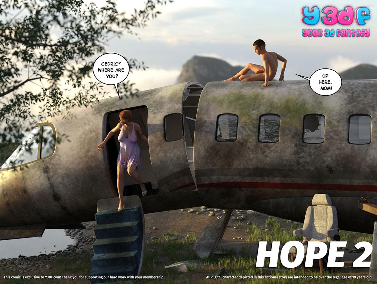 """Y3DF comic """"Hope 2"""" - page 1"""