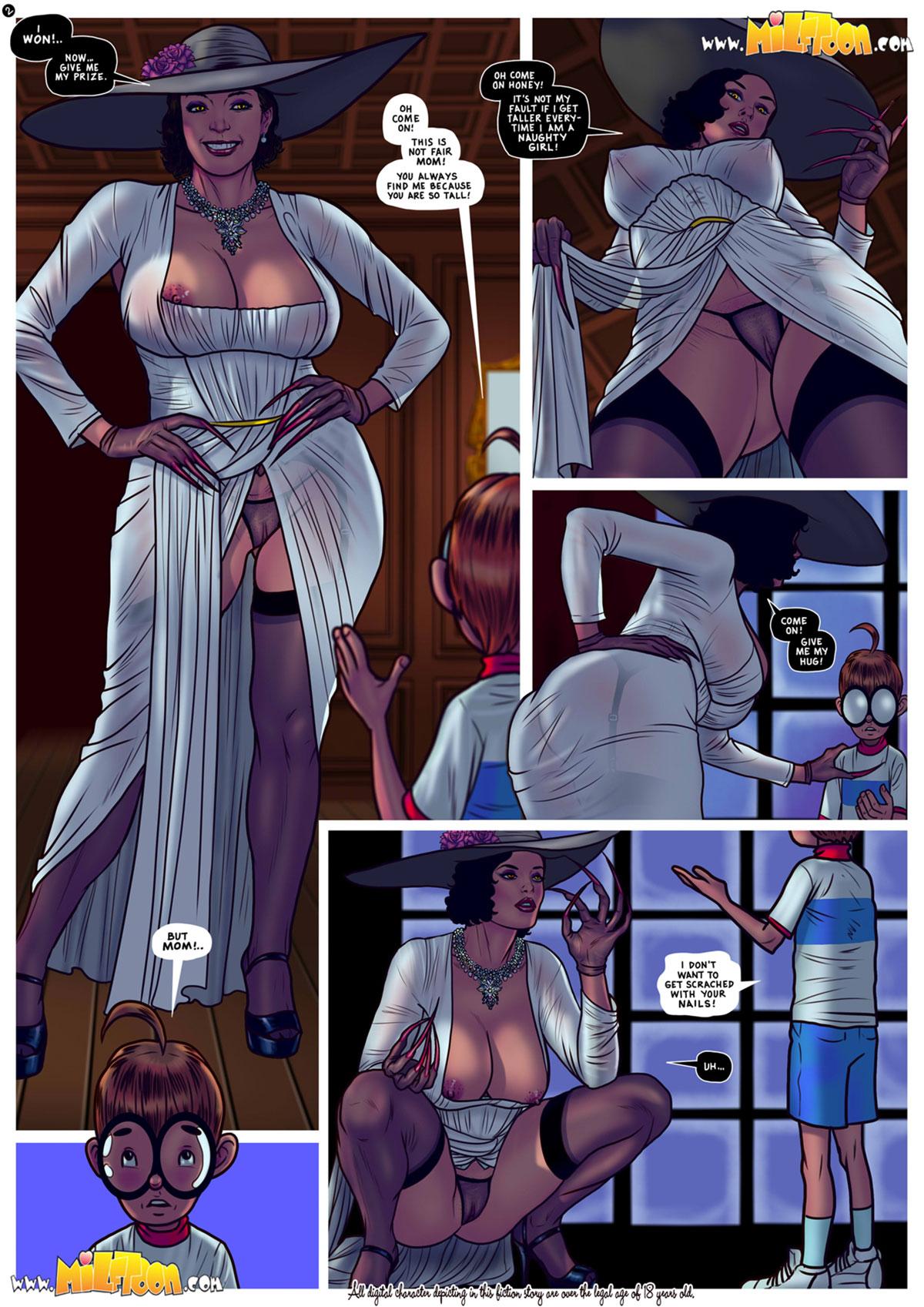 "Milftoon comic ""Milfina Dimitrescu"" - page 2"