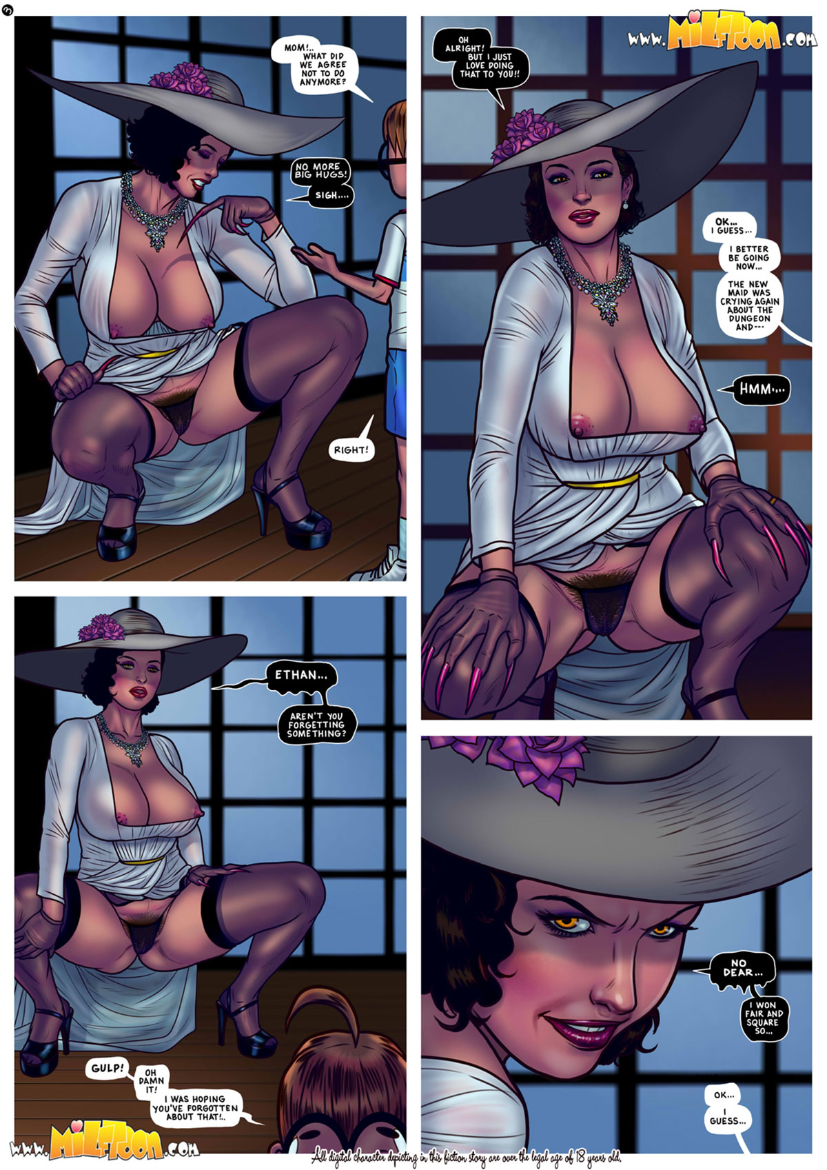 "Milftoon comic ""Milfina Dimitrescu"" - page 3b"