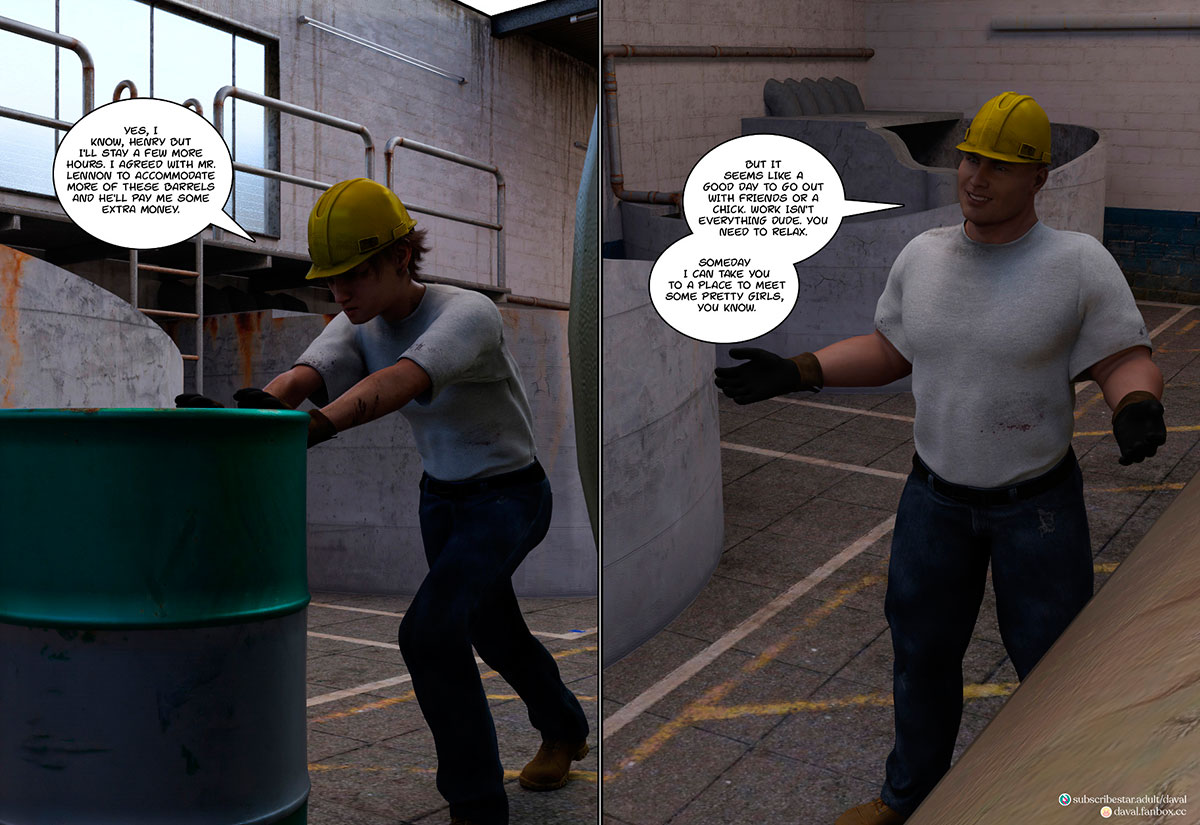 """Daval3D comic """"Satisfying Needs 3"""" - page 2"""