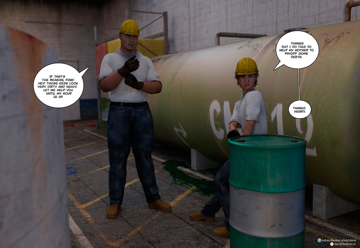"""Daval3D comic """"Satisfying Needs 3"""" - page 3"""