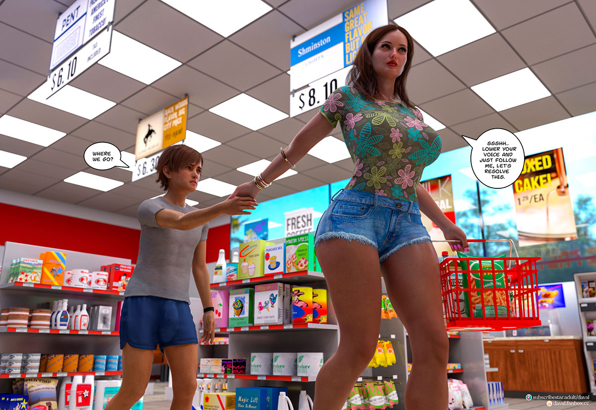"""Daval3D comic """"Satisfying Needs 3"""" - page 76"""